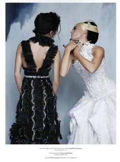 V Magazine Daphne Guinness Amanda Harlech by Karl Lagerfeld