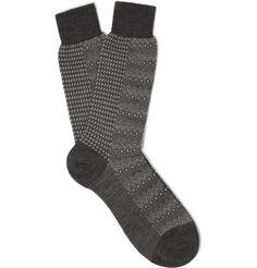 Marwood Pantherella Patterned Merino Wool-Blend Socks   MR PORTER