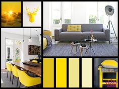 TOUCH OF SUN  #interior #moodboard #design #yellow