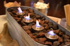 s'mores stations ideas | Sterno in a galvanized tub - S'mores station! | party ideas