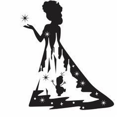 Disney Silhouette Art, Silhouette Design, Frozen Silhouette, Cartoon Silhouette, Princess Silhouette, Silhouette Png, Disney Fantasy, Disney Crafts, Disney Art