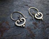 Swirl Hooks Gold Plate -- love this design