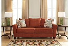 Rust Corson Sofa View 1