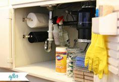 Organized: Under the Kitchen Sink