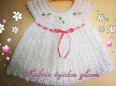 Αποτέλεσμα εικόνας για vestidos de bebe a crochet