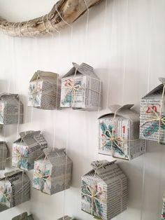 Calendrier de l'Avent maison en papier - Truc & Tricks Decorative Boxes, Home Decor, Simple Recipes, Cardboard Paper, Christmas Trees, Decoration Home, Room Decor, Home Interior Design, Decorative Storage Boxes