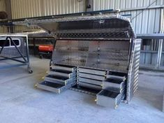 Bed Tool Box, Truck Tool Box, Truck Mechanic, Mechanic Tools, Toolbox Ideas, Ute Trays, Car Cooler, Work Trailer, Welding Projects