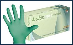 Textured Butadiene Powder Free Exam Gloves with Aloe Vera. DASH AloePRO Synthetic exam gloves are your latex-free solution to better feeling. Latex Free, Aloe Vera, Your Skin, Feel Good, Improve Yourself, Safety, Gloves, Medical, Feelings