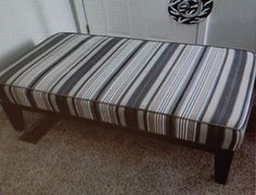 Make an ottoman or dog bed out of an old crib mattress.