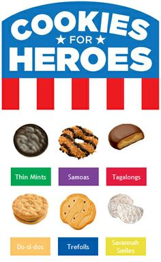 Get a box of cookies or donate them for our heroes with every presale purchase!
