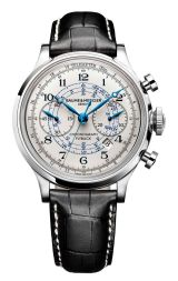 Discover and buy the Capeland 10006 automatic chronograph watch for men with leather strap, designed by Baume & Mercier, Manufacturer of Swiss Watches.