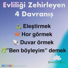 Four things that poison marriage! - Kudret Eren Yavuz - Family and Children Karma, Wise Words, Psychology, Marriage, Education, My Love, Reading, Children, Quotes