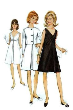 Vintage 1960s Simplicity Sewing Pattern 7390 Cocktail Party