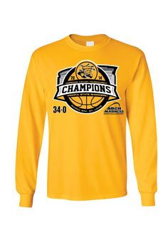 Wichita State (WSU) Shockers T-Shirt - Missouri Valley Conference Tournament Champions and Undefeated Gold WSU Stadium Long Sleeve Tee http://www.rallyhouse.com/shop/wichita-state-shockers-8090218 $28.99