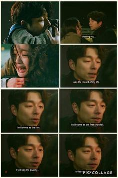 The day you left. *I cried forEVER. Goblin Korean Drama, Korean Drama Stars, Korean Drama Quotes, Goblin The Lonely And Great God, Goblin Kdrama, Cry Like A Baby, Yoo Gong, Weightlifting Fairy, Kdrama Memes