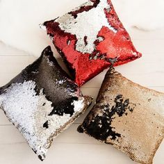 Christmas Red Mermaid Sequin Pillow