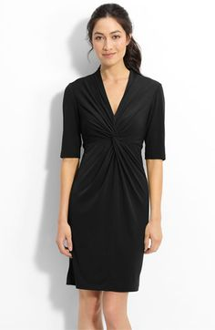 Donna Ricco Twist Front Jersey Sheath Dress