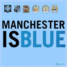 Manchester is blue🔵 Football Icon, Retro Football, World Football, Blue Moon Rising, Manchester City Wallpaper, Premier League Champions, Manchester England, Salford, Blue City