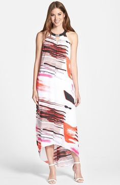 DKNYC Sleeveless High/Low Maxi Dress available at #Nordstrom