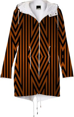 Tiger Tribal from Print All Over Me #raincoat #paom #printallover #his #hers #stripes #pattern #tribal #Aztec