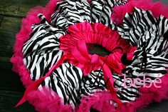 Zebra skirt with pink on waist