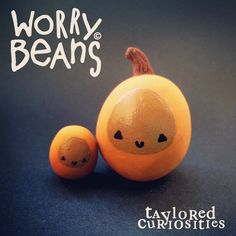 Pumpkin Worry Beans and Beanlets! Available from my store now www.tayloredcuriosities.bigcartel.com      Copyright protected.