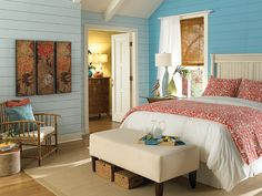 Product Vignette By Behr Paint Sponsor Of Cool Energy House Tropical Bedroom