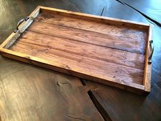 Wood Tray Wood Serving Tray Reclaimed Wood by EleventyOneStudio