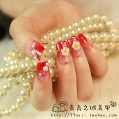 Aliexpress.com : Buy Gradient red square  nail art patch glitter quality medium long finger patch 24 from Reliable natural nail suppliers on Jessie's shop. $8.60