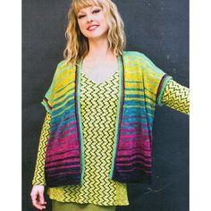 Prism Stop & Go Vest Kit In Windward Layers Yarn at WEBS | Yarn.com