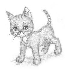 Рисуем котёнка: мастер-класс — Сделай сам, идеи для творчества - DIY Ideas