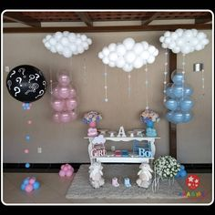 23 Clever DIY Christmas Decoration Ideas By Crafty Panda Pregnancy Gender Reveal, Baby Gender Reveal Party, Gender Party, Gender Reveal Balloons, Gender Reveal Party Decorations, Baby Shower Balloons, Baby Shower Themes, Deco Buffet, Shower Bebe