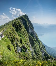 Switzerland -- View from Rochers de Naye.