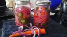 Pickled Carrots, Red Onions & Jalapenos