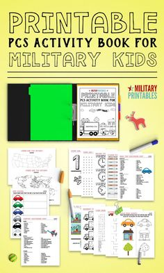 Awesome printable activity book for pcs moves, travel, or just keeping the kids busy, military life