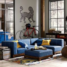 Cushy Lounge Collection #pbteen - Tween/teen hangout room Furniture Sale, Living Room Furniture, Denim Furniture, Teen Lounge Rooms, Kids Rooms, Living Room Throws, Living Rooms, Art Deco Living Room, Area Rugs For Sale