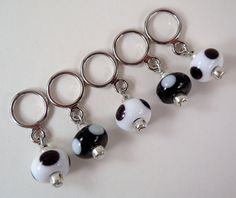 Stitch Markers  Handmade lampwork beads by tanyamcguire on Etsy
