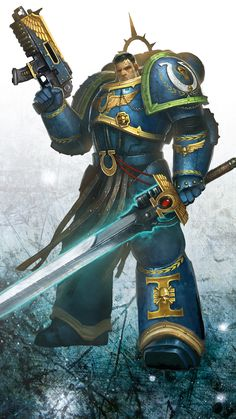 ghostavenger:  Uriel Ventris, Captain of the Ultramarines 4th Company.