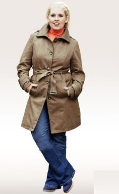 Trench grande taille - collection Maite Kelly pour Bonprix (60€) #femmeronde #grandetaille