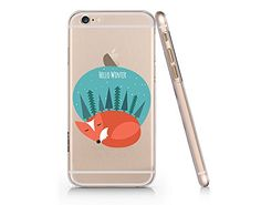 "Cute Fox ""Hello Winter"" Clear Transparent Plastic Phone Case for iphone 6 6s_ SUPERTRAMPshop (VAS427) SUPERTRAMPshop"