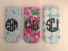 lilly-inspired calculator covers (painted by Eva Beaudoin)