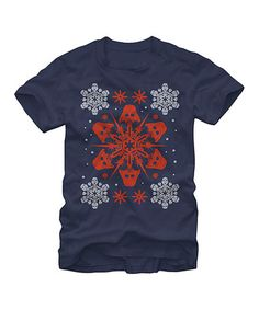 Look what I found on #zulily! Navy Star Wars Darth Vader Snowflake Tee - Men's Regular #zulilyfinds