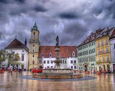 Slovakia Art - Bratislava Old Town Hall  by Juli Scalzi