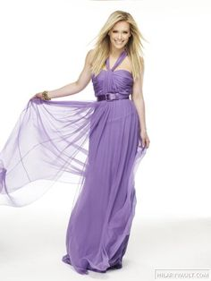 hillary duff in a beautiful long dress ----  I'm usually not  that crazy about belts on dresses, but this is so pretty! =)