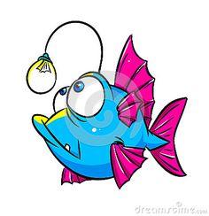 Fish lamp cartoon