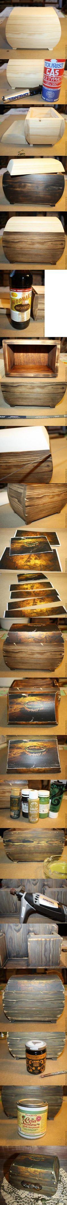 Декупаж - Сайт любителей декупажа - DCPG.RU | Старинный деревянный сундук Click on photo to see more! Нажмите на фото чтобы увидеть больше! decoupage art craft handmade home decor DIY do it yourself tutorial