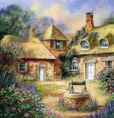 Wishing Well Cottage Counted cross stitch por Maxispatterns