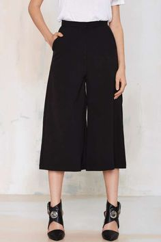 The Last Call Culotte Shorts are super stylish with a pair o black stilettos and super roomy to boot.