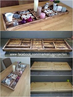 Tray Made of Recycled Pallet Wood