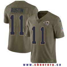 8208c050f0e Men's Los Angeles Rams #11 Tavon Austin Olive 2017 Salute To Service  Stitched NFL Nike